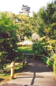 View through Temple Gate toward Cherry Tree Lane