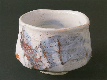 Painted Shino Tea Bowl
