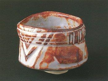 Gray Shino Tea Bowl