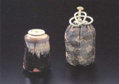 Korean Karatsu Glaze Tea Caddy