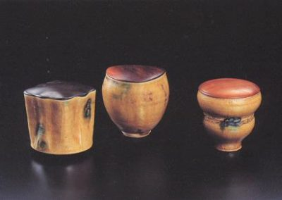 Three Yellow Seto Tea Containers