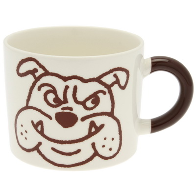 Mug Clr Hndl Brown Bulldog