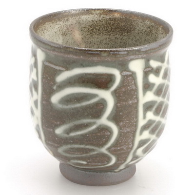 Teacup Brown/White Glaze Patterns