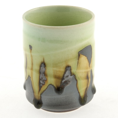 Teacup Graphite Brown/Lime Flow
