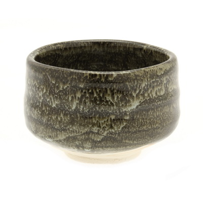 Matcha Chawan Black Lacquer Flow