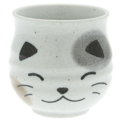 Sushi Cup White Calico Cat