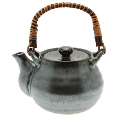 Teapot Silver Blue Granite