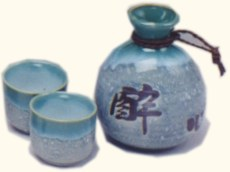 Glass, Wood & Ceramic Sake Sets