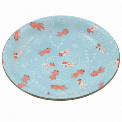 Plate Blue Water Goldfish-S