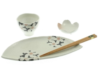 Sushi Set Black Cherry Blossom