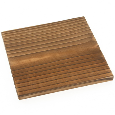 Coaster Wood Square Yakisugi 4-1/4