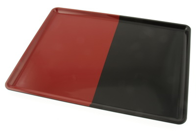 Tray Rt Split Vermillion/Black