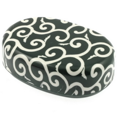 Box/Lid Green/White Arabesque