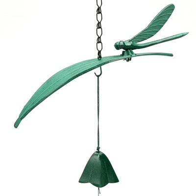 Wind Chime Green Dragonfly/Leaf