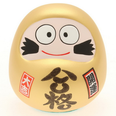Daruma Gold Smiling Successful Bank