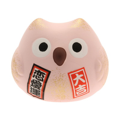 Ornament Pink Owl-LOVE