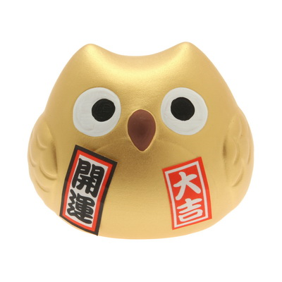 Ornament Gold Owl-FORTUNE