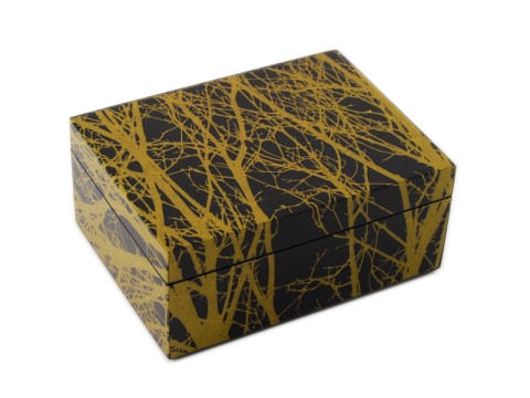 Tree Inlay Lacquer Medium Box