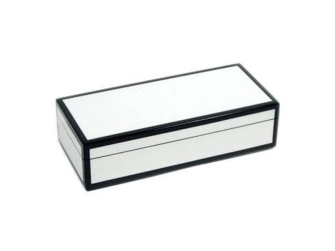 Five Sides White and Black Pencil Box