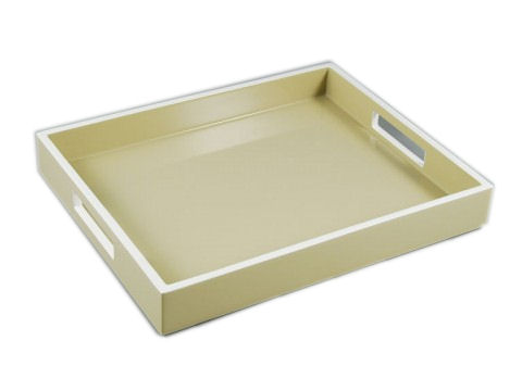 Taupe with White Reiko Tray