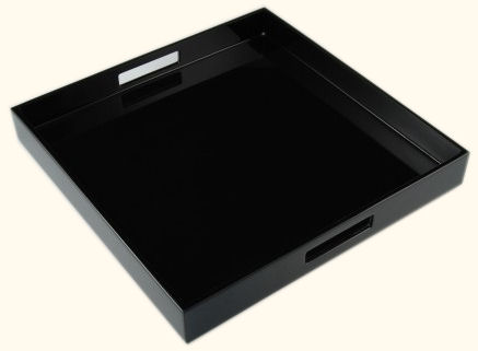 All Black Square Serving Tray