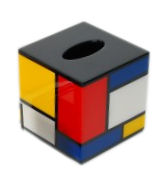 Color Mondrian� Cube Tissue Box Cover