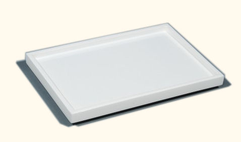 All White Lacquer Vanity Tray
