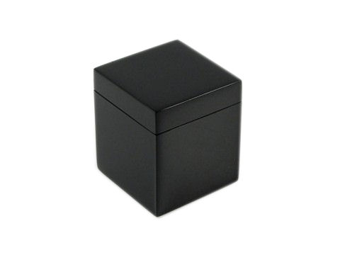All Black Lacquer Q-Tip Box