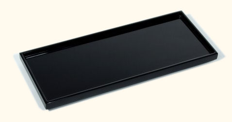 All Black Lacquer Long Vanity Tray