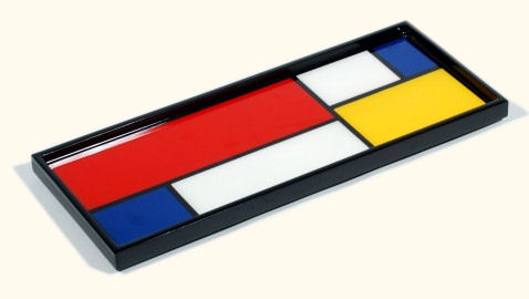 Color Mondrian� Long Vanity Tray