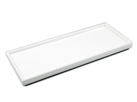 All White Lacquer Long Vanity Tray