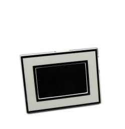 "White and Black Lacquer Picture Frame 4"" x 6"""