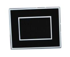"Black and White Lacquer Picture Frame for 5"" by 7"" photo"