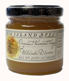 Organic Wilelaiki Blossom Honey, 4.5 ounce jar