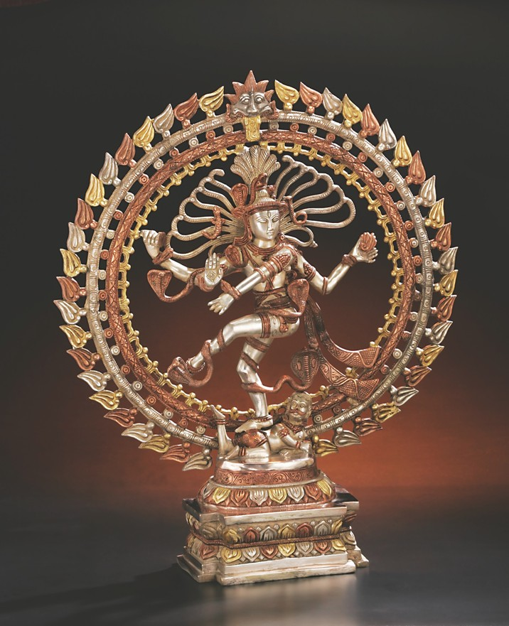 Dancing Shiva with Triple Ring of Fire