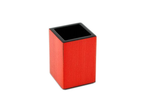 Red Tulipwood Inlay with Black Lacquer Brush Holder