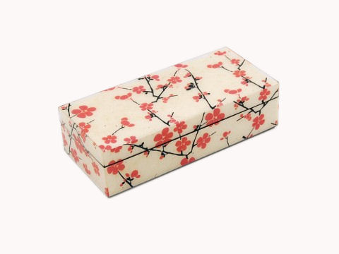 Cherry Blossom Paper Inlay with Lacquer Pencil Box