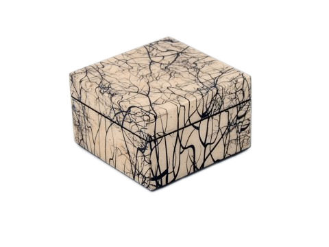 Square Box, Roots Paper Inlay