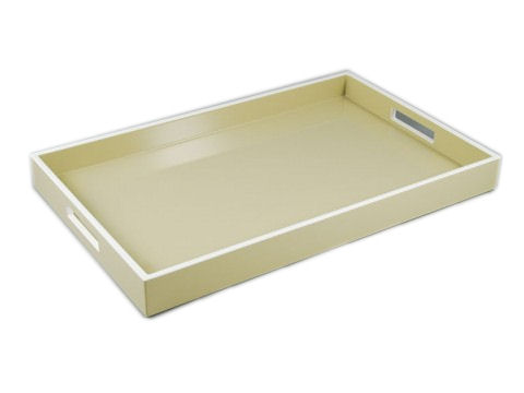 Taupe with White Breakfast Tray
