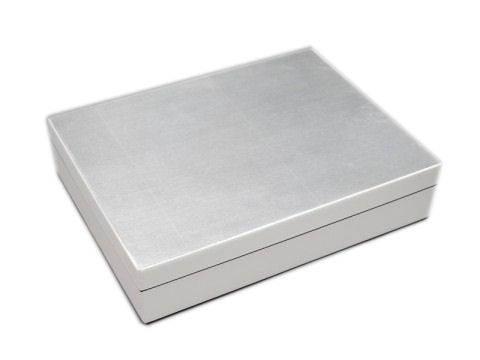 Silver Leaf Inlay with White Lacquer Stationery Box