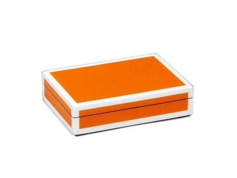 Five Sides Orange and White Playing Card Box