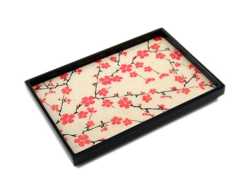 Cherry Blossom Inlay Lacquer Vanity Tray