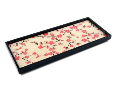 Cherry Blossom Inlay Lacquer Long Vanity Tray