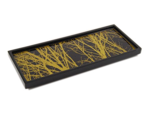 Tree with Lacquer Long Vanity Tray