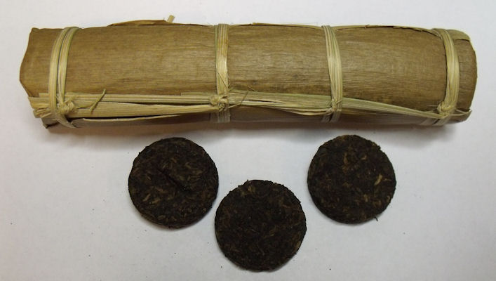 Aged Pu-erh Wafer Mini Tong (1998)