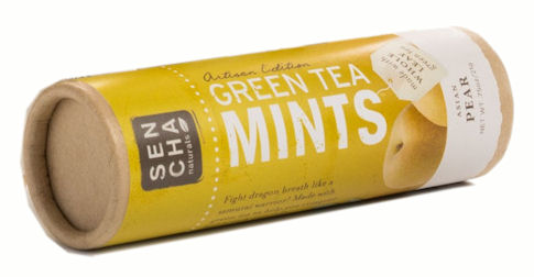 Asian Pear Green Tea Leaf Mints (Tube)