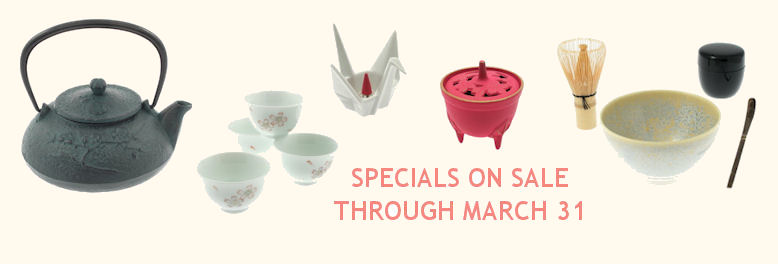 Specials on sale through March 31