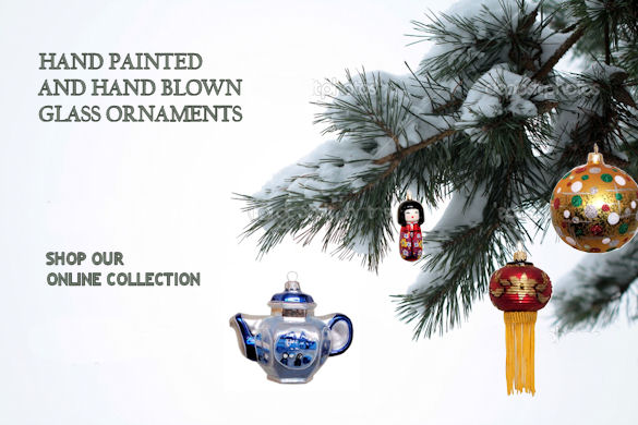 Hand painted and hand blown glass ornaments / Shop our online collection
