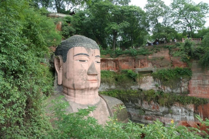 Grand Buddha statue in Leshan, China. It was finished in the year 803, and is in total 71 meters high.  © Harald Tjøstheim 2008, iStockphoto