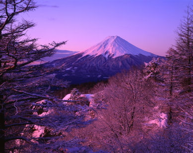 Snow-covered Mt. Fuji at dusk � Yossan iStockphoto 2009